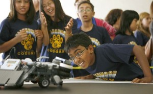 Los Angeles math students do battle.