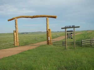 Entrance to the Lost in Time Ranch